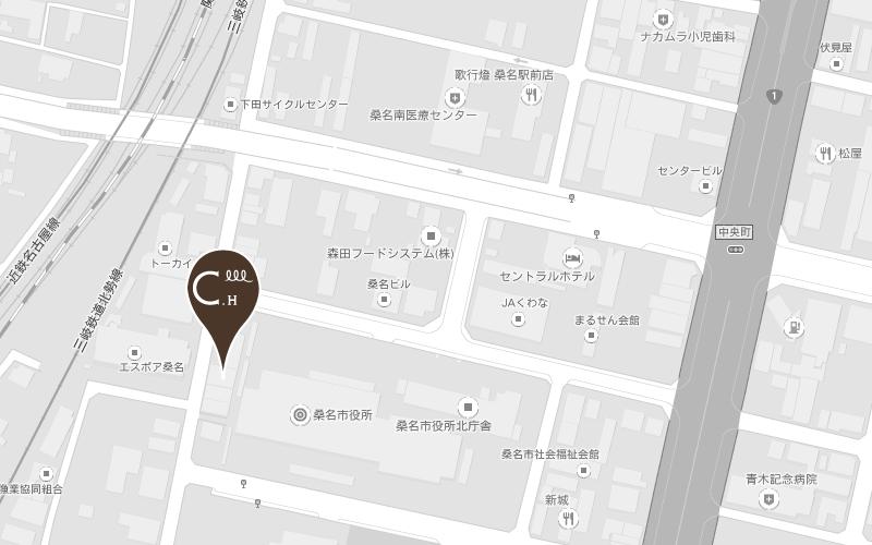 美容室 店舗地図